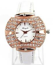 Bling Charm White Women Fashion Watches Ladies Crystal Band Wrist Clock