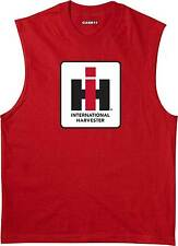 International Harvester Logo Case IH Farming Agriculture Tractor Mens Muscle T