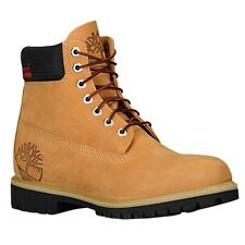 "Mens Timberland 6"" 6 inch Scripted Classic Hiking Boots New, Wheat 6060A"