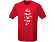 Keep Calm YOUR TEXT Personalised Funny Kids T-Shirt Unisex (12 Colours)