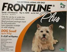 Frontline Plus Orange for Small Dogs Up To 22 lbs / 10 KG New ✰ Free Shipping ✰