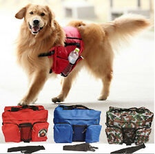 Dog Outdoor Backpack Harness Kit Pet Carrier Travel Hiking Camping Multi-use Bag