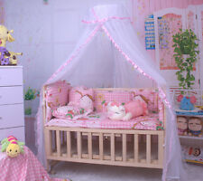 New Baby Bed Canopy Drape Mosquito Net Bowknot Mosquito-Proof Drape To Fit Crib