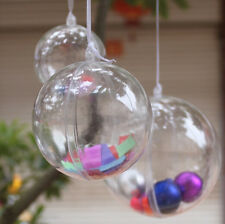 DIY Operable Clear Plastic Ball For Christmas Tree Hanging Decoration 6 8 10cm