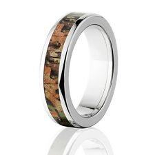 Official Licensed RealTree Xtra Green Titanium Ring, Camo Rings, Wedding Bands