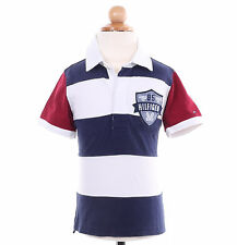 Tommy Hilfiger Children Little Boy Baby Toddler Stripe Rugby Polo Shirt -$0 Ship