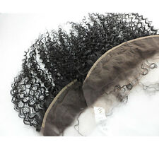 "6A Kinky Curly Lace Frontal 13x4"" Brazilian Virgin Human Hair Extensions Closure"