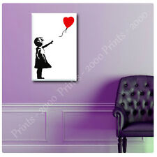 LARGE Canvas Banksy Baloon Girl kid hope red reproduction photos wall art decor