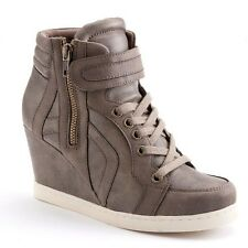 Candie's® Women's Fresno Taupe Wedge Sneakers - Assorted Sizes
