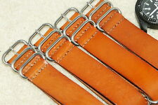 NATO G10 Genuine Leather British Military MOD Watch Strap 18-24mm bars + tool