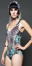 Lip Service More Human than Human Cyber Goth Industrial Alien Hooded Bodysuit