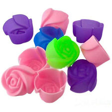8pcs Rose Muffin Cookie Cup Cake Baking Chocolate Jelly Maker Mold Mould Maker