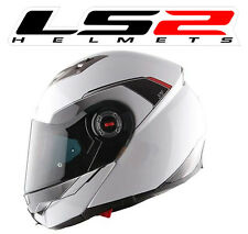 Casque moto integral modulable LS2 Shadow FF370 Blanc Brillant Helmet white NEUF