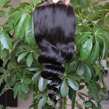 Cheap Loose Wave Brazilian Lace Closure Virgin Human Hair Top Lace Closures 4x4""