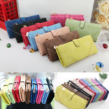 Fashion Women Leather Wallet Button Clutch Purse Lady Long Handbag Bag Hot Sale