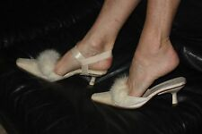 Elastic Shoe Straps Heel Nude or Black