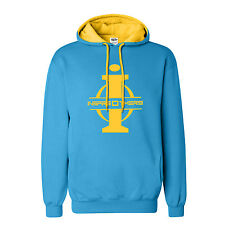 "Big and Tall Hoodie LT – XXXLT "" InspireOthers"" Blue Yellow Fleece Sweatshirt"