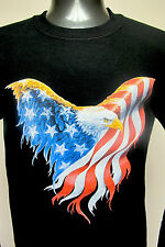 New Mens Unisex Sweatshirt Rodeo Western Cowboy- EAGLE  Black Color