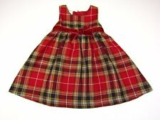 NWT Infant Baby Girls Holiday Christmas Dress PLAID sz:18,24 Mo WONDER KIDS
