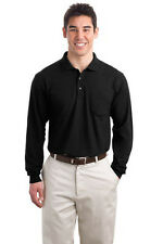 Port Authority Long Sleeve Silk Touch Polo with Pocket. K500LSP Mens