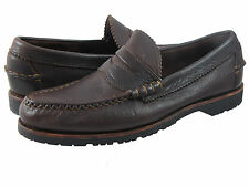 Allen Edmonds Mens Flagstaff Dark Brown Slip Business Casual Penny Loafers Shoes