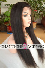 Unprocessed Indian Remy Lace Front Wigs Human Hair Italian Yaki For Black Women