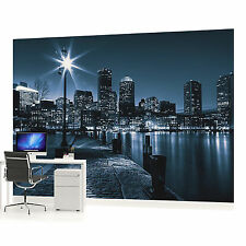 Blue City at Night  PHOTO WALLPAPER WALL MURAL ROOM DECOR (283VE)