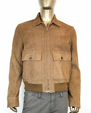$4200 New Authentic Gucci Diamante Suede Leather Bomber Jacket Blazer 282833