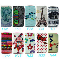 Wallet Magnetic Leather Flip Slot Card Stand Skin Case Cover For Samsung