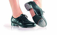 NEW! SO DANCA TOP QUALITY ALL LEATHER TAP DANCE SHOE. COLORS: BLACK & TAN (TA41)