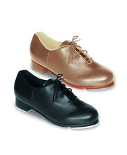NEW! SO DANCA OXFORD LEATHER TAP DANCE SHOE. EXTRA HARD BOX. BLACK OR TAN (TA42)