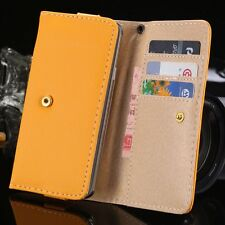 Wallet Leather Case Card Slots Purse Cover For iPhone 4 4S 5 5S 5C  Galaxy S 3 4