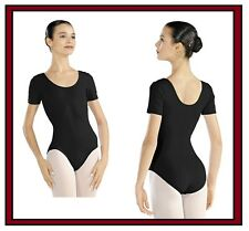 NEW!! WOMENS DANCE BALLET LEOTARD WITH SHORT SLEEVES & A SCOOP NECK. (x7096)