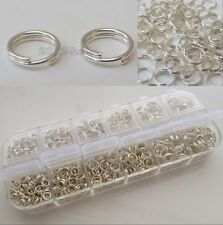 1000Pcs Silver Plated Cut Open Double Split Jump Rings Mixed Sizes  4,5,6,8mm