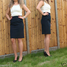 NEXT 2 IN 1 TAILORED PENCIL COCKTAIL DRESS WHITE TOP NAVY SKIRT OFFICE OCCASION