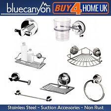Blue Canyon Stainless Steel Gecko Suction Bathroom Accessories - No Rusting!