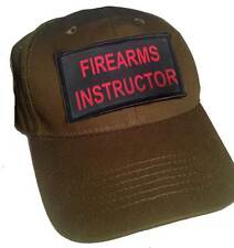 Law Enforcement Hat with Velcro, Front & Back - Firearms Instructor Patch