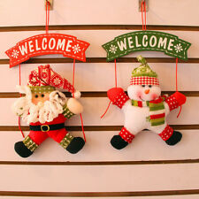 Snowmen Santa Claus Moose Hanging Decor Christmas Ornaments Decorated Doll Cute