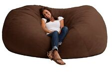 7 Foot XXL Fuf bean bag chair in Comfort Research Suede memory foam large NEW