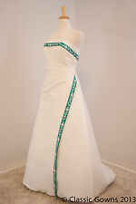 Brand New Informal Strapless Satin Alfred Angelo A-line Wedding Dress