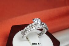 VNGT 2.02 CT STERLING SILVER 925 ROUND CZ ENGAGEMENT WEDDING RING SET WRS47-MS