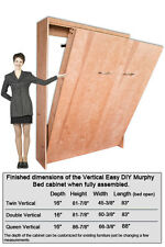 Murphy Wall Bed Hardware Construction Kit Twin, Double or Queen Size Mattresses