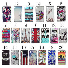 Fashion Embossed Design Drawing Pattern Hard Back Case Cover For Sony Xperia M2