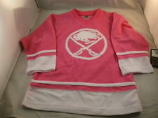 NEW PINK BUFFALO SABRES GIRLS HOCKEY JERSEY LICENSED NHL FREE SHIPPING NICE!!