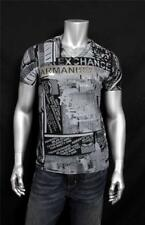New Armani Exchange AX Mens Muscle Slim Fit Allover City Tee Shirt y6x955