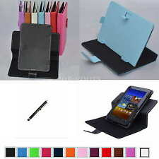 """Colorful Rotary Magic PU Case Cover+Pen For 7"""" EVGA TEGRA NOTE 7 Android Tablet"""