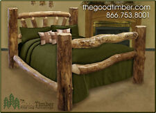Custom Aspen Log Bed Only $539.95 - Ships FREE - Rustic Beds, Furniture
