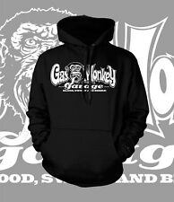Gas Monkey Hoodie Fast N Loud Blood Sweat And Beer Hot Rod Chevy t shirt (BLACK)