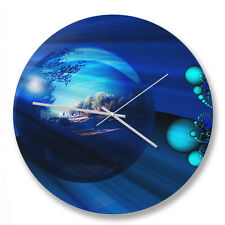 30cm Abstract Earth circle wall clock with metal hands