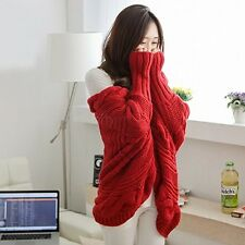 Women Oversized Loose Knitted Sweater Batwing Sleeve Tops Cardigan Outwear